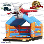 13x13ft Commercial Inflatable Airplane Bounce House Castle With Air Blower