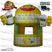 10x11.5ft Inflatable Lemonade Drink Booth Concession Stand Tent With Air Blower