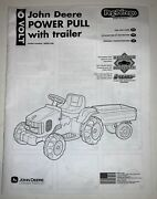 John Deere Power Pull With Tractor 16 Volt Perperigo Instruction Manual