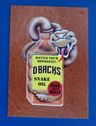 2016 Wacky Packages Ans14 Leather 17 Dbacks Snake Oil /3 @@ Rare @@