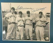 Ted Williams And Joe Dimaggio Signed 8x10 Photo Certified Authentic