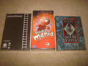 Sealed Mystery Rummy Jack The Ripper + Voodoo Mania + Microfilms Card Game Lot
