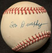 Rare Don Dunphy Died 1998 Psa/dna Signed Baseball Abc Sports Broadcaster