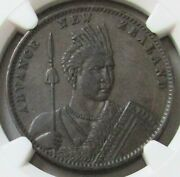 1881 New Zealand 1 Penny Milner Thompson Christchurch Maori Ngc About Unc 50 Bn