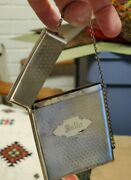 Ladies Vintage Case Sterling Silver Credit And Business Card Holder Rare