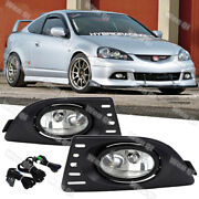 For Acura Rsx 2005-2007 Clear Pair Bumper Fog Lights Lamps W/wiring+switch