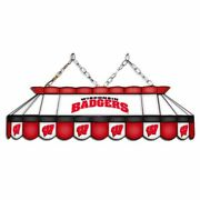 Wisconsin Badgers Mvp 40 Stained Glass Pool Table Lamp