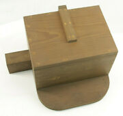 Lamson Industrial Foundry Wood 16 1/4 Base Machine Part Mold Pattern M112a