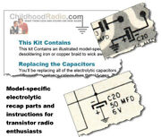 Arvin 7574p Ch 1.43000 Transistor Radio Electrolytic Recap Kit Parts And Documents