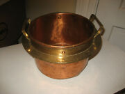 Antique Hammered And Dovetailed Copper Pot