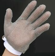 Stainless Steel Mesh Cut Resistant Chain Mail Protective Glove Kitchen Safe Chef