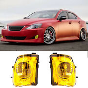 Fit 2006-2010 Lexus Is250 Is350 Fog Lights Replace Bumper Fog Lamp Yellow Lens