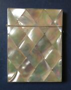 Victorian Mother-of-pearl Calling Card Case - Late 19th Century