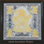 Feng Shui The Great White Dzambala Plaque Mantra For Wealth And Prosperity