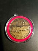 Rare Titanic Ship Of Dreams Highland Mint Bronze Medal Coin In Case