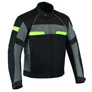 Mens Textile Biker Riding Ce Armored Waterproof All-weather Motorcycle Jacket