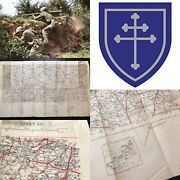Wwii Rare Named 79th Infantry Division D-day Le Mans France Combat Map Ww2 Relic