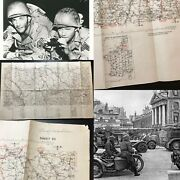 Wwii 1943 Southern France 3rd Army Operation Dragoon Dijon Combat Map Ww2 Relic