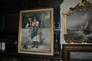 Antique Oil Painting Signed By Well Listed Julius Lange 1817 - 1878
