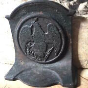 Historic Iron Bookend Ca.1890's Eagle, Arrow In Beak/ Indian Wars And Oppression