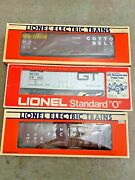 3 Lionel Electric Trains Cotton Belt, Union Pacific And Grand Trunk Western