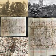 Rare Wwi 1915 British France Ypres Ordinance Artillery Marker Trench Map Relic