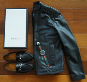Authentic Shoes 7 Loafer Ck Biker Leather Jacket Mercedes Automatic Watch