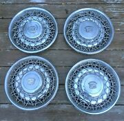 Set Of 4 1975-1984 Cadillac Seville Fleetwood Wire Wheel Hubcaps Caps 1977 1978