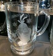 New Disney Parks Arribas Olaf Frozen Etched Glass Coffee Mug Cup Personalized