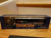 Rare Ertl 164 Steelcase Kenworth T2000 With 53and039 Trailer 2007 Limited Edition