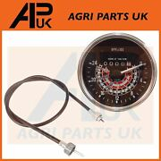Tvo Tachometer Rev Gauge And Tacho Cable For Massey Ferguson 35 135 Petrol Tractor