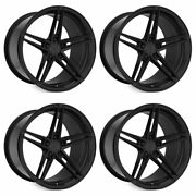 20 Rohana Rfx15 Black 20x9 20x10 Forged Concave Wheels Rims Fits Ford Mustang