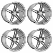 20 Rohana Rfx15 Silver 20x10 20x11 Forged Concave Wheels Rims Fits Ford Mustang