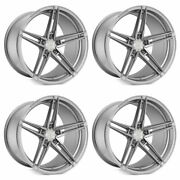 20 Rohana Rfx15 Silver 20x9 20x10 Concave Wheels Rims Fits Ford Mustang Gt