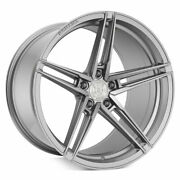 20 Rohana Rfx15 Silver 20x9 20x11 Concave Wheels Rims Fits Ford Mustang Gt