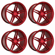 20 Rohana Rfx15 Red 20x10 20x11 Forged Concave Wheels Rims Fits Ford Mustang