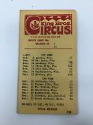 King Bros 3 Ring Circus 1974 Route Cards 16 Winter Park Florida