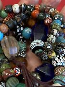 Outstanding Strand Necklace Ancient Colorful Roman Glass And Stone, Carolina,