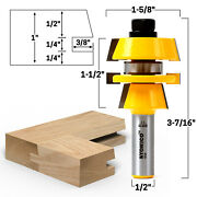Shaker Stacked Rail And Stile Router Bit - 1/2 Shank - Yonico 12124