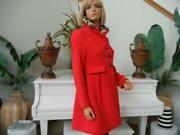 Nwt Kate Spade Orient Red Shanghai Collection Leopard Collar Dress Coat 728