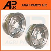2x Front Wheel Rim 5.5 X 16 For Ford 601 800 801 2000 2600 2810 2910 Tractor