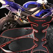 Side Traction Knee+pro Tank Pad Grip Sticker Protector 08-16 Yzf-r6 Chrome Red