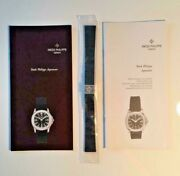 Authentic Patek Philippe Aquanaut Black Rubber Watch Band With 2 Booklets Mint