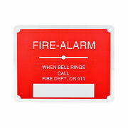 Raven Fire Safety Sign Fire Alarm- When Bell Rings Call Fire Dept. Or 911''