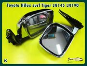 With For Toyota Hilux 5th Ln85 Ln106 Mighty-x 4runner 88-97 Chrome Door Mirror