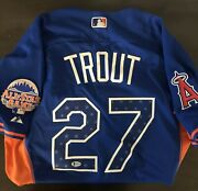 Mike Trout Signed 2013 All Star Authentic Jersey Mlb Angels Bas Beckett Coa