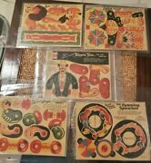 Antique Toy Post Cereal Circus Box Prize Clown Novelty Game Collectible Cards Us