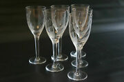 Lot Of 6 France Crysta Lalique Angel Wing Champagne Wine Flute Stemware 13645.