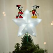 New - Disney Mickey Mouse And Minnie Mouse Light Up Christmas Tree Topper 2016