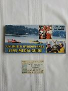 1995 Unlimited Hydroplanes Media Guide With 1995 Detroit Gold Cup Ticket Stub